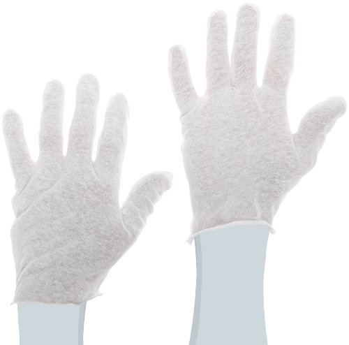 Protective Industrial 97-500 Cotton Lisle Economy Light Weight Men's Glove Liner, White (Pack of 12)