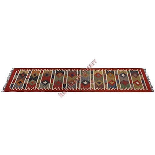 Handicraft Bazarr - Alfombra de yute reversible para meditación, yoga, dhurries, decoración de suelo, estilo vintage, rústico