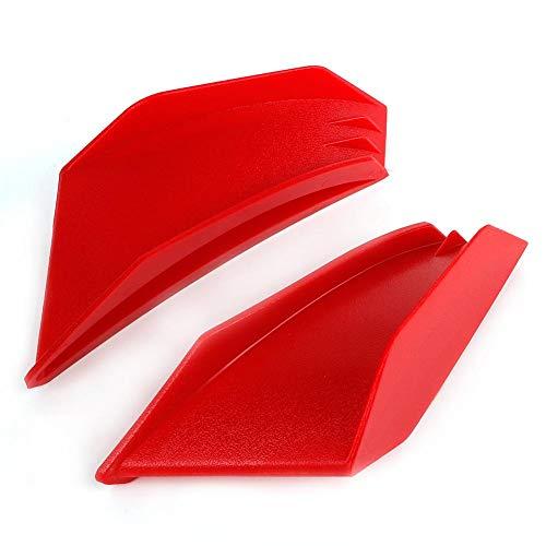 Ala de carenado, 1 par de ala aerodinámica de motocicleta universal, kit de alas (Red)