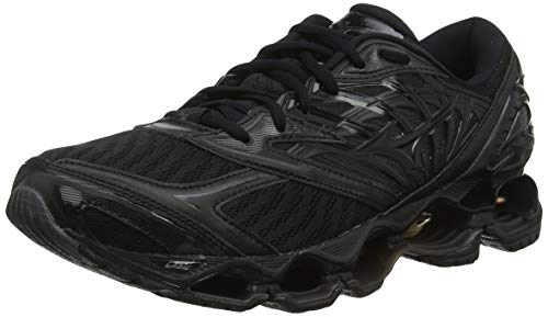 Mizuno Herren Wave Prophecy 8 Laufschuhe, Schwarz Black Black Darkshadow 10, 44.5 EU