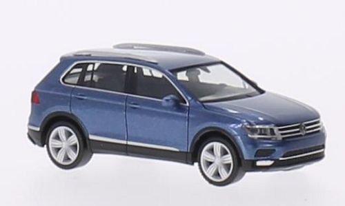 VW Tiguan, metallic-blau, 2015, Modellauto, Fertigmodell, Herpa 1:87
