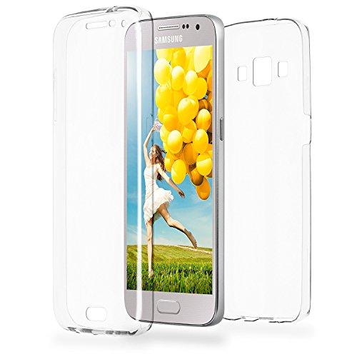 MoEx Funda Protectora 360º de Silicona Compatible con Samsung Galaxy A5 (2015) | Transparente, Transparent