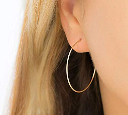 Gold Creolen große Klassische Ohrringe Rose Gold Silber Medium Skinny