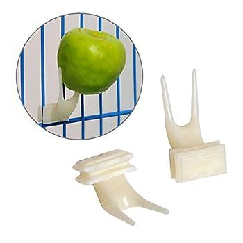 yushidianPU Fourchette Plastique Nourriture pour oiseaux mangeoires Fruits installer Cage Accessoires Parrot Appliance pigeon blocs d'alimentation pour