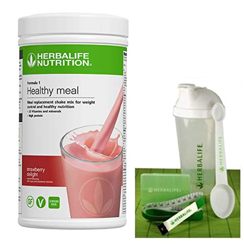 Healthy Meal Shake Mix Strawberry Delight 550 g with Herbalife Starter Kit Gift