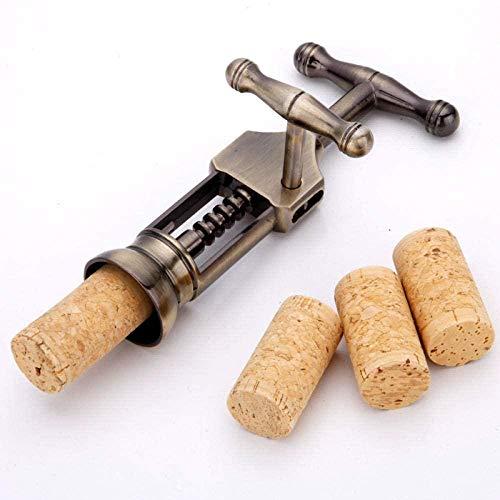 Aleación de zinc multifunción en caja de palanca de vino sacacorchos Tire tapón de vino manual de metal sacacorchos de vino de bronce sacacorchos