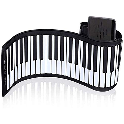 Amazing Deal CHENXIU Keyboard Piano, 88-Keys Piano,Upgraded Portable Rechargeable Electronic Hand Roll Piano with Environmental Silicone Piano Keyboard for Beginners