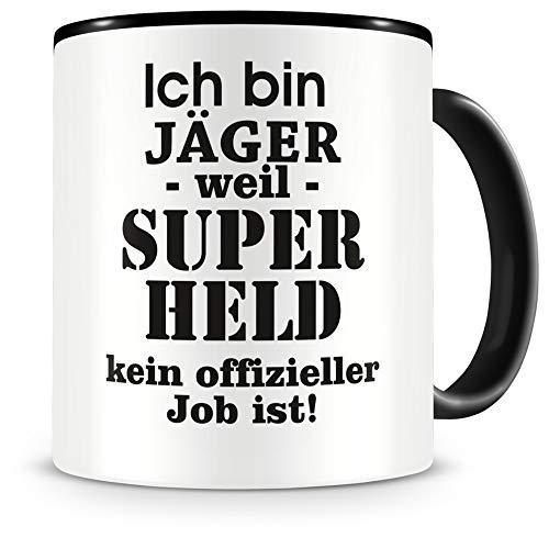 Samunshi® Ich bin Jäger Tasse Beruf Geschenk Kaffeetasse Teetasse Kaffeepott Kaffeebecher Becher 300ml Jäger