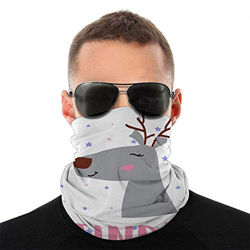 Text Star Reindeer Tee The Arts Baby Face Scarf Cover Outdoor Sport Women Men Face Cover Variety Face Towel Neck Headband