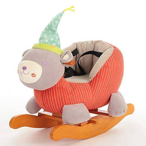 Enfants Cadeau D'anniversaire Cheval À Bascule Musique Trojan Bébé Jouet Bébé Chaise À Bascule En Bois Massif