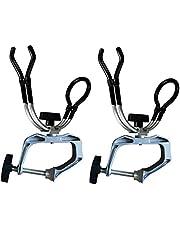NUZAMAS Set de 2 Soportes para cañas de Pescar Aleación de Aluminio sólido para Barcos Kayak Yacht Rack Equipment | Almeja en el Montaje máximo de 5 cm | Giro de 360 Grados