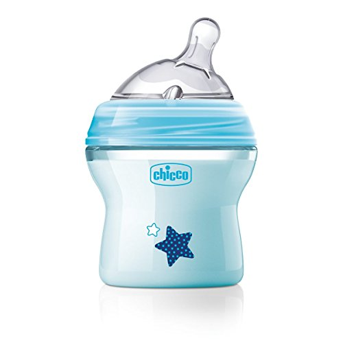 Chicco Biberon Natural Feeling, 0m+, 150ml, Azzurro