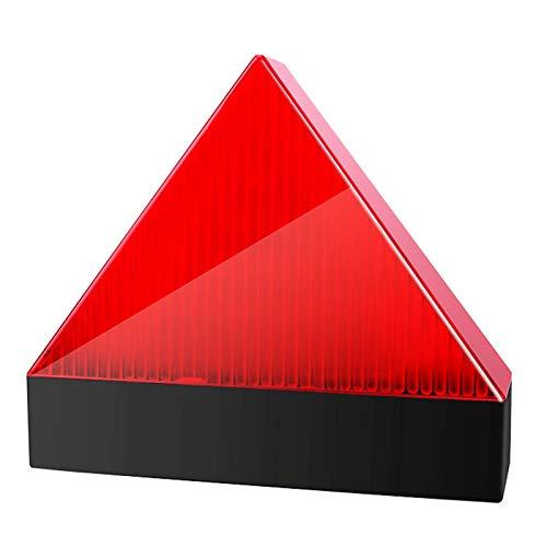 Luces De Emergencia Estroboscópica De Advertencia LED, Luz De Advertencia De Triángulo Anti-Colisión Súper Parpadeante Con Trípode Lámpara De Baliza Anti-Colisión De Emergencia De Seguridad,Rojo