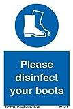 Bitte desinfizieren Sie Ihre Stiefel