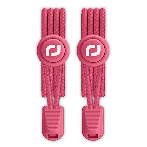 RJ-Sport Elastische Schnürsenkel mit Schnellverschluss - Schnellschnürsystem für Einzigartigen Komfort und Starken Halt (Nummer 015 - Rosa)