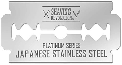 Double Edge Razor Blades - Men´s Safety Razor Blades for Shaving - Platinum Japanese Stainless Steel Double Razor Shaving Blades for Men for a Smooth, Precise and Clean Shave - 50 Count