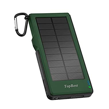 Solar Charger, 12000mAh Portable Phone Charger with Quick Charge 3.0, TopBest Solar Power Bank