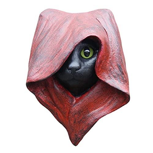 DUCUT Figura decorativa de gato oculto para Halloween, estatua de meditación, escultura de gato para colgar en la pared, estatua gótica de bruja para decoración de Halloween