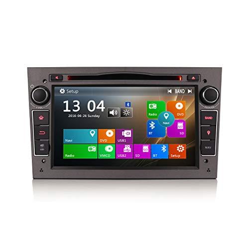 Erisin 7 Zoll Autoradio für Opel Vauxhall Corsa Astra DVD Player mit GPS Navi USB SD Unterstützt Bluetooth 3G DAB+ DVR DTV Lenkradfernbedienung RDS