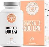 Omega-3 mit 500mg EPA & 250mg DHA pro Kapsel als Großpackung mit 240 hochdosierten Kapseln, Sporternährung: 1000mg reines Fischöl von ADDEDGREEN