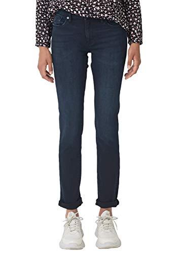 Q/S designed by - s.Oliver Damen 2004792 Slim Jeans, Blau (Blue Denim Havy Stoned 58z9), W36/L30