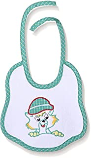 Lumex Cat Embroidered Bib with Drawstring for Kids - Green