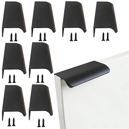 Maniglie da Cucina Curve per Mobili Lega di Alluminio Maniglia di Armadio da Cucina Mobili Cassetto Spazzolato Maniglia Invisibile Semplice Moderna Maniglie Nascoste per Armadietti (80mm)