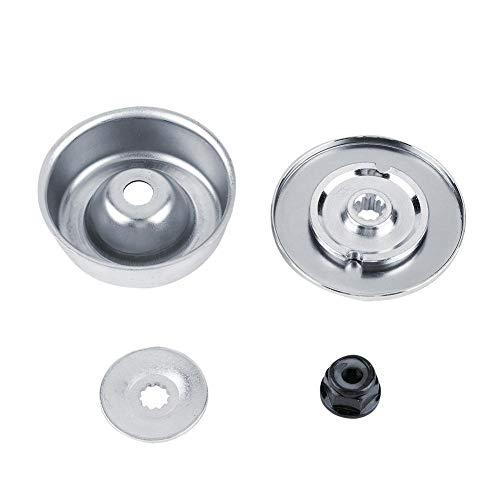 Alomejor Blade Adapter Aufsatz, Metal Silver Washer Plate Kit Rasentrimmer Zubehör Fit für 4126 642 7600