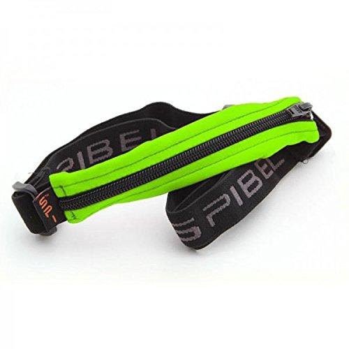Original SPIbelt SPI Kid's Belt Hüfttasche - Lauftasche für Kinder, verstellbare, elastische Bauchtasche für Sport oder medizinische Utensilien, Running Gürteltasche, grün mit schwarzem Zipper