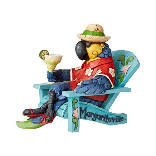 Enesco Margaritaville by Jim Shore Parrot in Beach Chair Figurine, 5.8""