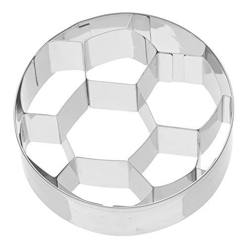 Kaiser - Cortador de galletas con forma de balón de fútbol, acero inoxidable, 7,5 x 7,5 x 2,5 cm