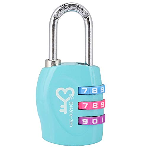 Demeras 3 Dial Digit Code Combination Padlock Password Lock Compatible with Suitcase Luggage(Light Blue)