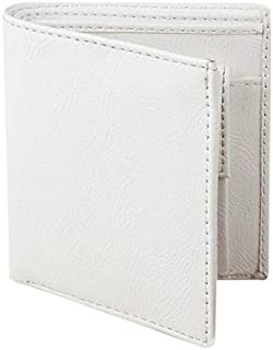 Lime Wear Men's Off White Leather Washed Off White RFID Blocking Leather Wallet