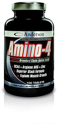 Integratore Anderson aminoacidi ramificati Amino-4 BCAA + Arginina AKG 700 cpr