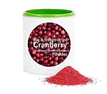Arándano Rojo en Polvo - Liofilizado biológico vegano crudo pura fruta no aditivo rica en vitamina Good Nutritions 60g