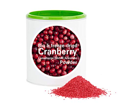 Cranberrypulver – Bio Cranberry gefriergetrocknet |bio organic| freeze-dried cranberry| good-superfruit von good-smoothie| 100% frucht |ohne zusatzstoffe + viele Inhaltsstoffe| 60g