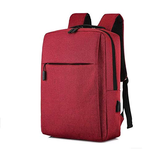 Bdesign Laptop Backpack, Business Anti-theft Work Computer Backpack Suitable For 15.6-inch Laptop, With USB Charging Port, Waterproof Leisure Backpack (Color : Red)