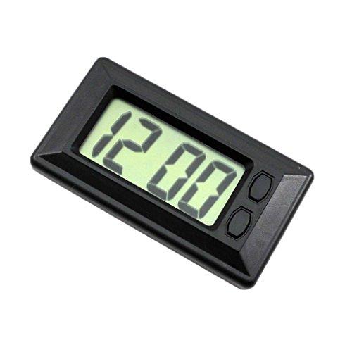 balikha Cars Reloj LCD Clásico Reloj Digital con Almohadilla Adhesiva, Reloj con Indicación de Fecha Y Hora