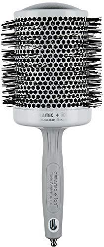 Olivia Garden Cepillo de pelo redondo Mega Ceramic + Ion 80, cepillo redondo antiestático con cuerpo de cerámica y cerdas de nylon, 80/100 mm