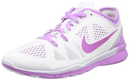 Nike Free TR 5 Breathe, Zapatillas de Interior. Mujer, White/Soar-Wolf Grey-Grn Glow 101, 39 EU