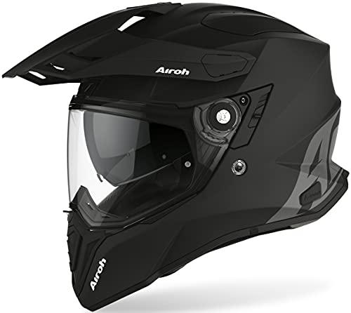 AIROH Commander, CM11 Casco per Moto Unisex adulto, M, Nero