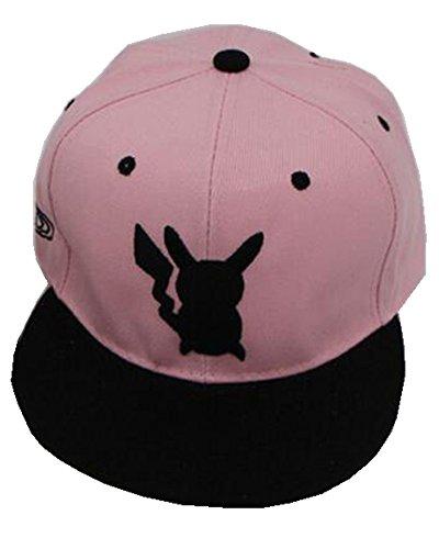 PJ Kinder Niedliches Baseballkappen Hut Snapback Pokemon Go Hut Tasche Monster Baseball Kappe - Rosa, One Size