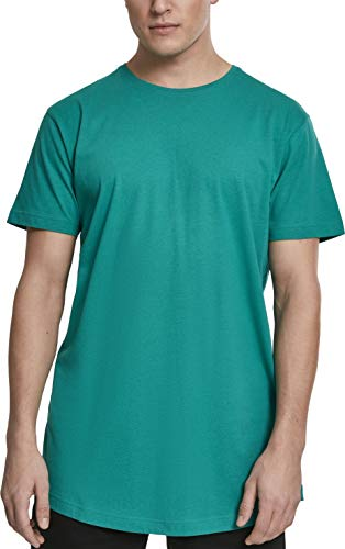 Urban Classics Herren Shaped Long Tee T-Shirt, Grün (Fresh Green), L