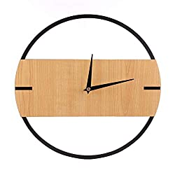 N /A Wall Clock 30cm Silent Wall Clock Vintage Retro Modern Design Simple Wooden Wall Clocks Bedroom Home Decor Hanging Watch Timer