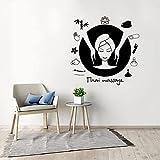 Massage thaïlandais autocollant mural décalcomanie Spa autocollant Spa Relax salle de Massage décoration murale 42x42 cm