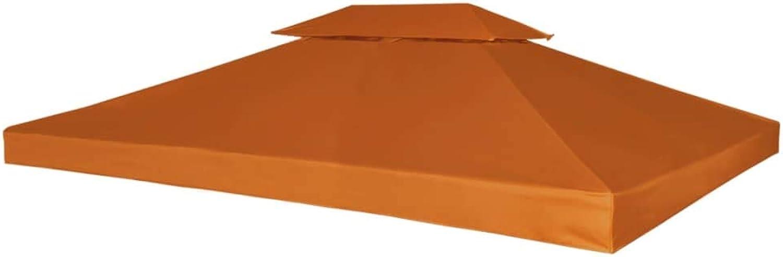 VidaXL Water-Proof Gazebo Cover Canopy 310g m2 Terracotta 3x4m Pavilion Top