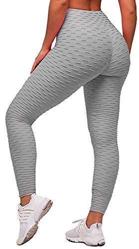 Memoryee Leggings Mujer Push Up Mallas Pantalones Deportivos anticeluliticos Suave Elásticos Alta Cintura Elásticos Yoga Fitness de Control la Barriga