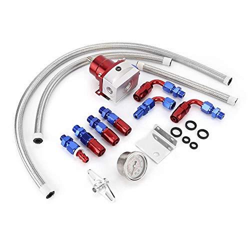 Kit de régulateur de pression de carburant réglable 100psi universel pour voiture avec...