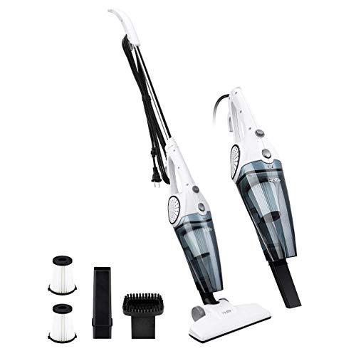 PUPPYOO Scopa Elettrica Aspirapolvere Verticale Senza Sacco 2 in 1 Filtro HEPA lavabile Forte Rumore Basso leggero con fili