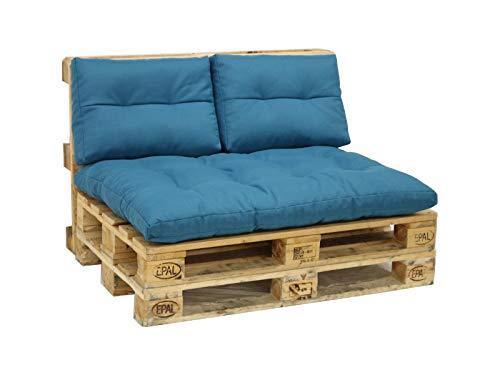 Tendencio Helio - Coussins d'assise pour Palette Bleu Turquoise